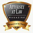 Attorney at Law Magazine Badge